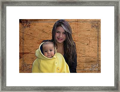 Cuenca Kids 878 Framed Print by Al Bourassa