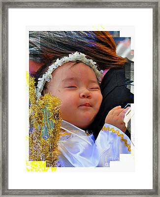 Cuenca Kids 879 Framed Print by Al Bourassa