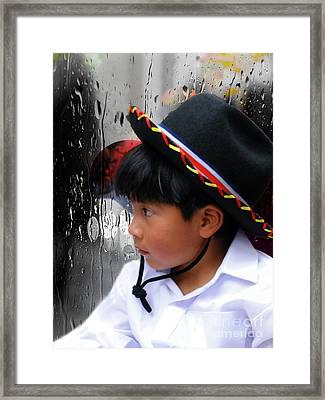 Cuenca Kids 880 Framed Print by Al Bourassa