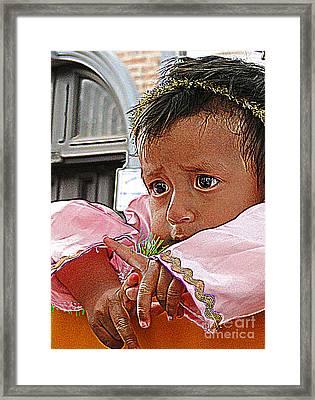 Cuenca Kids 881 Framed Print by Al Bourassa