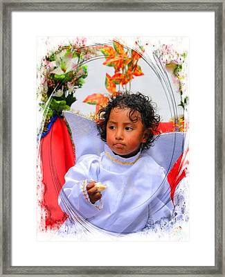 Cuenca Kids 882 Framed Print by Al Bourassa