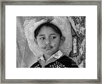 Framed Print featuring the photograph Cuenca Kids 883 by Al Bourassa