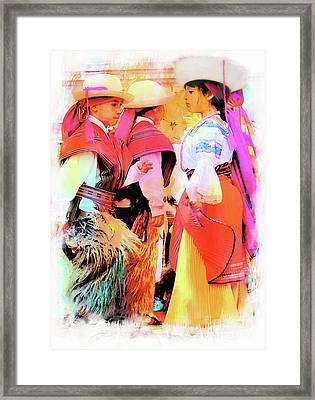 Framed Print featuring the photograph Cuenca Kids 884 by Al Bourassa