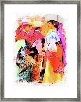 Cuenca Kids 884 Framed Print by Al Bourassa