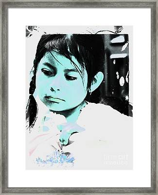 Framed Print featuring the photograph Cuenca Kids 886 by Al Bourassa