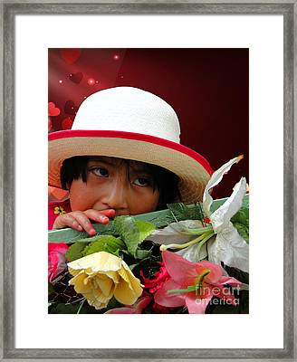 Framed Print featuring the photograph Cuenca Kids 887 by Al Bourassa
