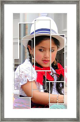 Framed Print featuring the photograph Cuenca Kids 890 by Al Bourassa