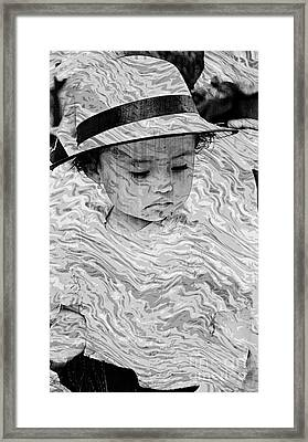 Framed Print featuring the photograph Cuenca Kids 894 by Al Bourassa