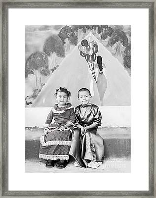 Framed Print featuring the photograph Cuenca Kids 896 by Al Bourassa