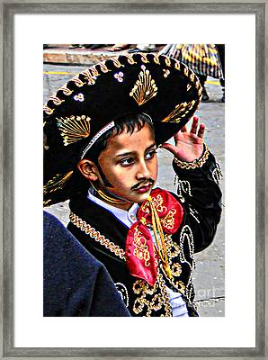 Framed Print featuring the photograph Cuenca Kids 897 by Al Bourassa