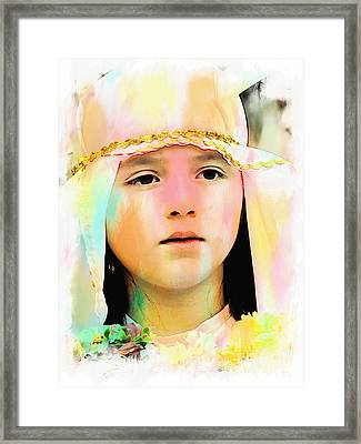 Cuenca Kids 899 Framed Print by Al Bourassa