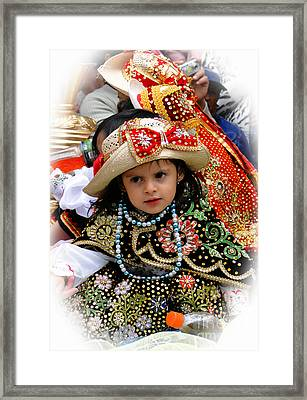 Framed Print featuring the photograph Cuenca Kids 900 by Al Bourassa