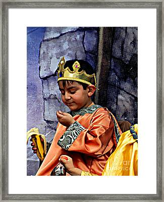 Framed Print featuring the photograph Cuenca Kids 903 by Al Bourassa