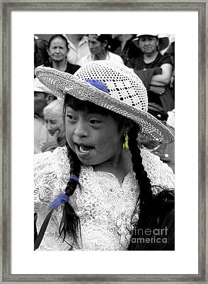 Cuenca Kids 904 Framed Print by Al Bourassa