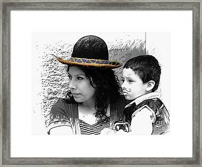 Cuenca Kids 912 Framed Print by Al Bourassa