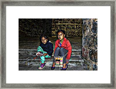 Cuenca Kids 953 Framed Print by Al Bourassa