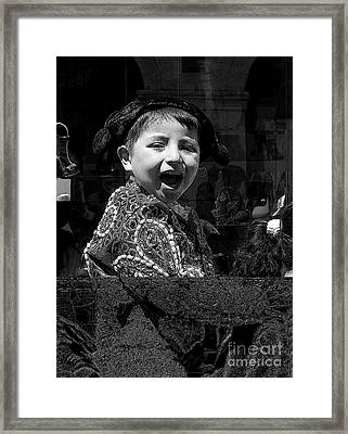 Cuenca Kids 954 Framed Print by Al Bourassa