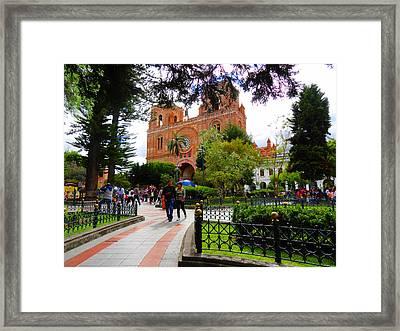 Cuenca Parque Calderon Y Santa Ana Framed Print