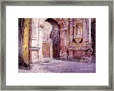Cuernavaca Cathedral Framed Print by David Lloyd Glover