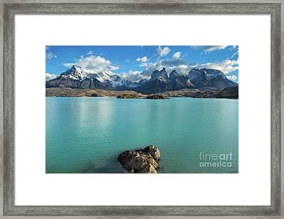Cuernos Massif, Patagonia Framed Print