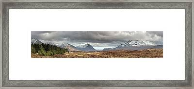 Cuillin Panorama Framed Print by Grant Glendinning