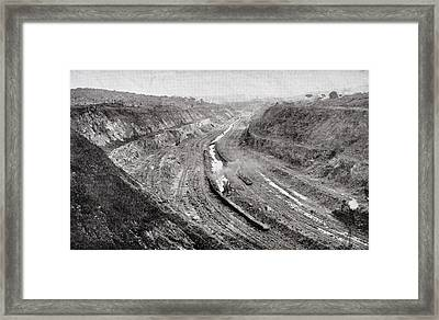 Culebra Cut From West Bank Showing Framed Print