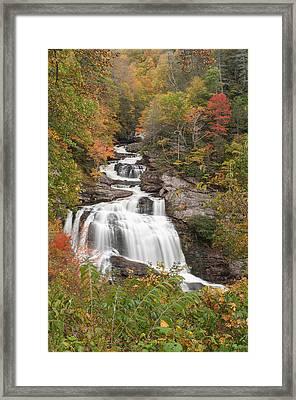 Cullasaja River Falls Framed Print