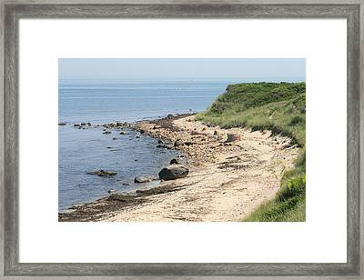 Culloden Point In Montauk Framed Print by Christopher Kirby
