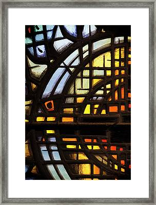 Framed Print featuring the photograph Culross Abbey - Stained Glass by Jeremy Lavender Photography