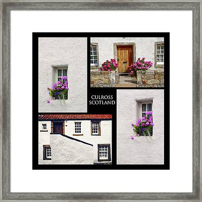 Culross Town Collage. Scotland Framed Print