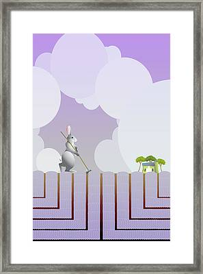 Cultivating Good Scents Framed Print