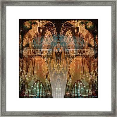 Cultural Divide Framed Print