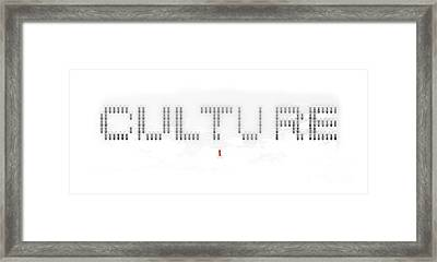Culture Framed Print by Pixel Chimp