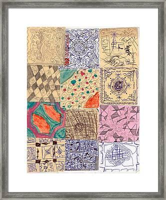 Culture Plates 1 Framed Print by Sakiba Jarwar