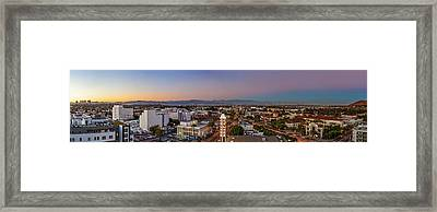 Culver City At Dusk Framed Print