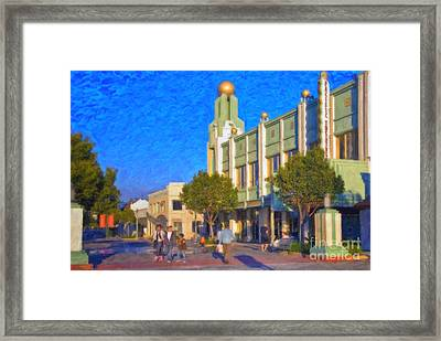 Framed Print featuring the photograph Culver City Plaza Theaters   by David Zanzinger