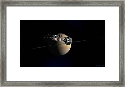 Framed Print featuring the digital art Cumberland At Saturn by David Robinson