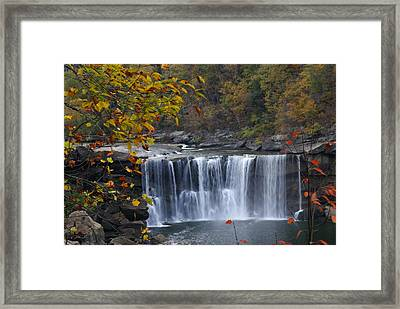Cumberland Falls In Gold Framed Print