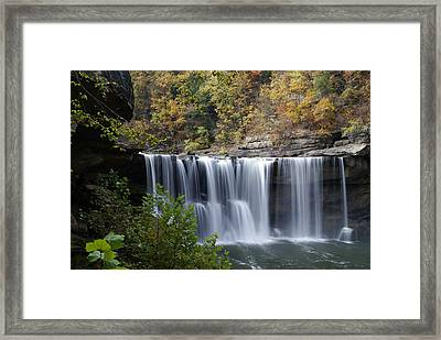 Cumberland Falls In Green Framed Print