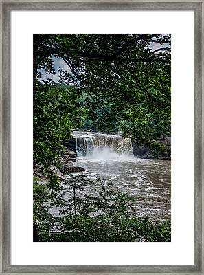 Framed Print featuring the photograph Cumberland Falls by Joann Copeland-Paul