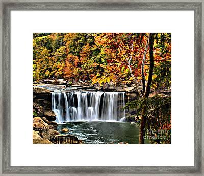 Cumberland Falls Framed Print by Ken Frischkorn