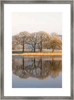 Cumbria, England Lake Scenic With Framed Print by John Short