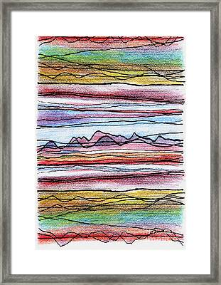 Cumbria Lines 2 Framed Print by Andy  Mercer