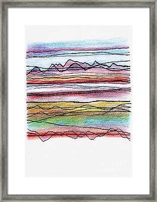 Cumbria Lines  Framed Print by Andy  Mercer