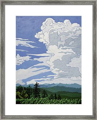 Framed Print featuring the painting Cumulonimbus Afternoon by John Gibbs