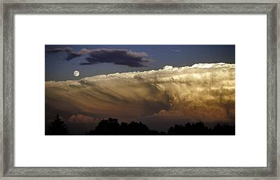 Cumulonimbus At Sunset Framed Print