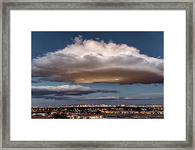 Framed Print featuring the photograph Cumulus Las Vegas by Michael Rogers