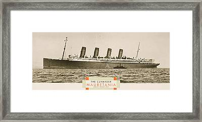 Cunard Line Promotional Brochure For Framed Print