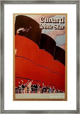 Cunard-white Star Ocean Liner Poster Framed Print