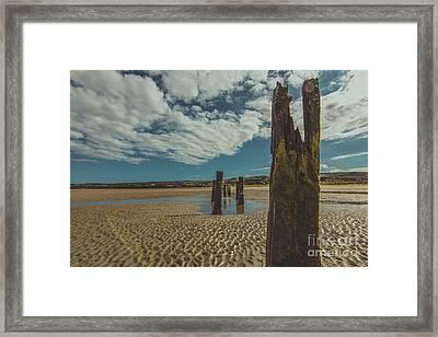 Cunnigar Groynes 2 Framed Print